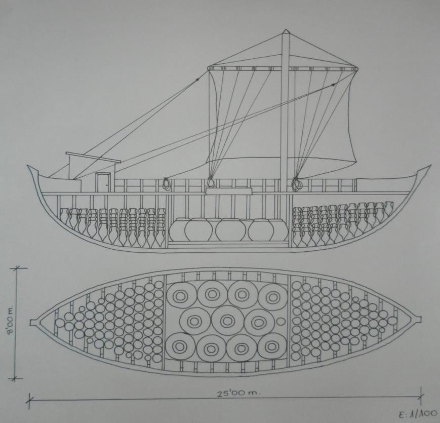 Tecnica di stivaggio dei doglia su la nave oneraria